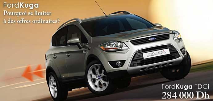 promotion ford kuga partir de 284 000 dh voitures maroc. Black Bedroom Furniture Sets. Home Design Ideas