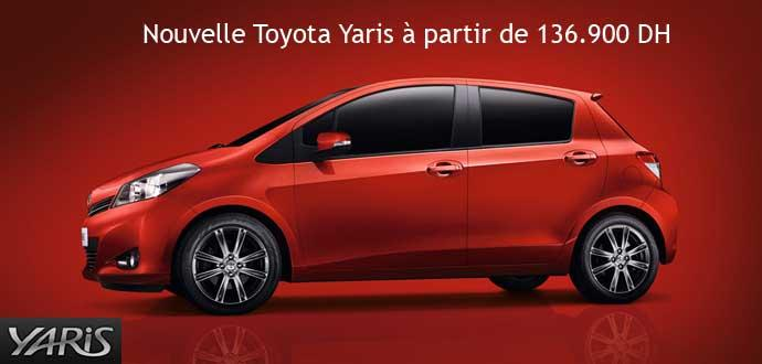 promotion nouvelle toyota yaris partir de dh voitures maroc. Black Bedroom Furniture Sets. Home Design Ideas